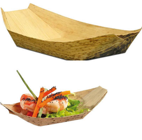 What types of disposable wooden plates are there?