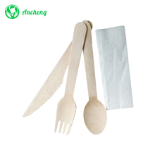 Compostable Eco Feiendly Wooden Cutlery Kit